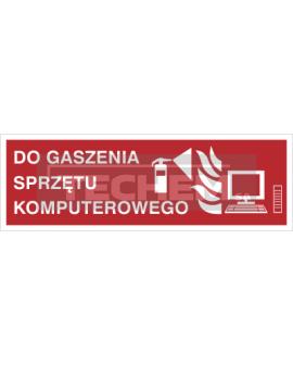Znak do gaszenia sprzętu komputerowego (202-10) 300 x 100 mm płyta sztywna