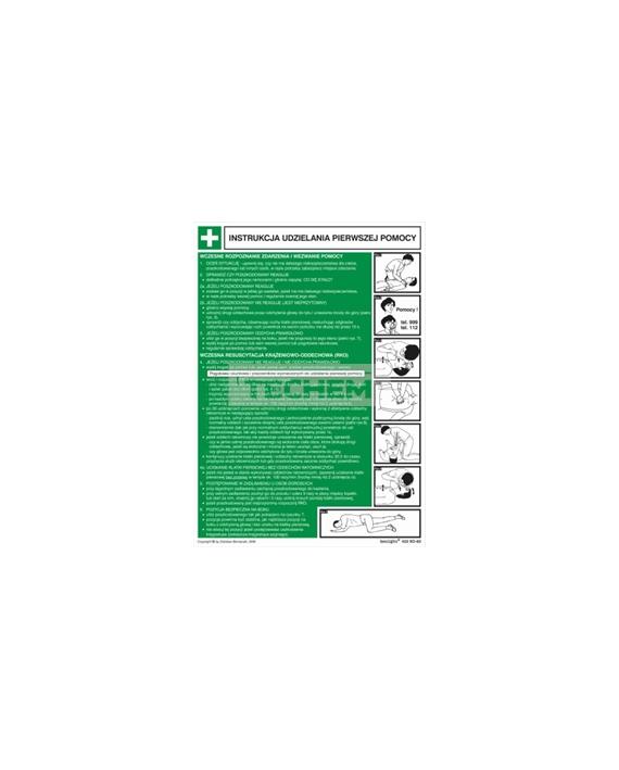 Instrukcja ABC pierwszej pomoc - płyta zwykła 250 x 350mm